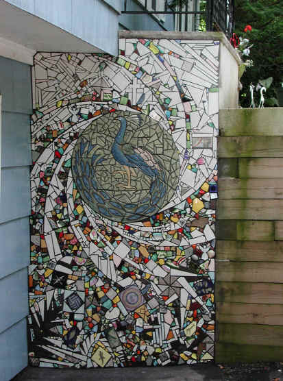 Outdoor mosaic tile project